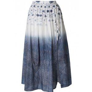 Tibi Akiko midi skirt cotton silk New sz 2